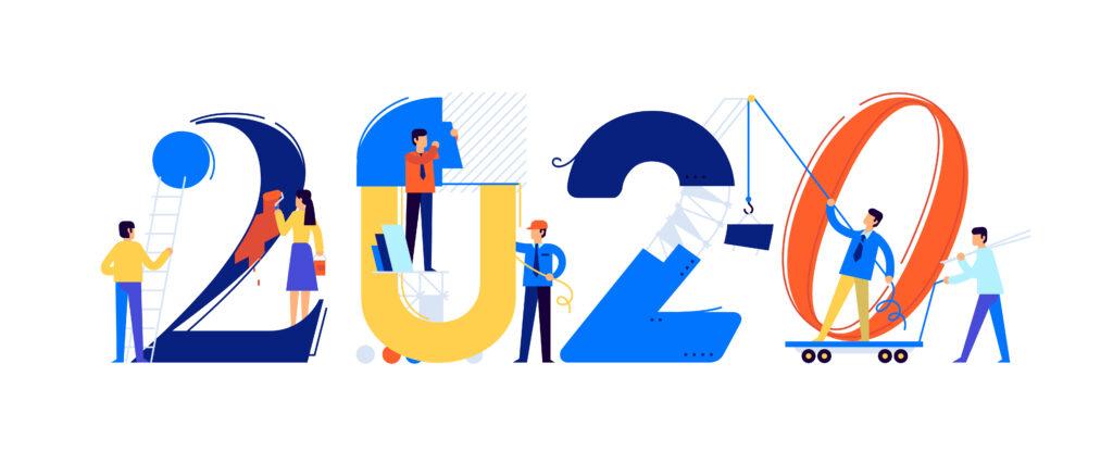 Office staff preparing for 2020